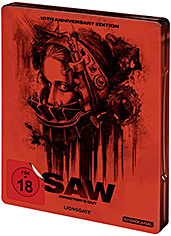 SAW - 10th Anniversary Steelbook Edition Cover Packshot