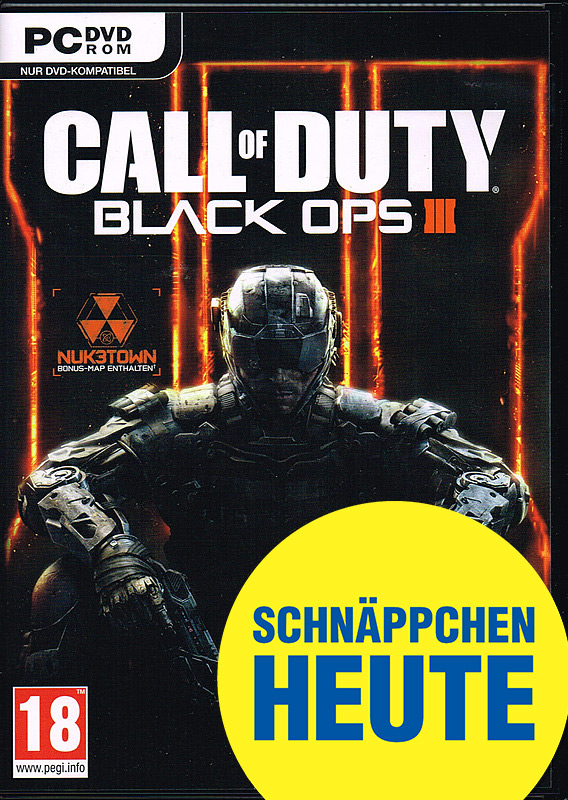 Call of Duty: Black Ops 3 D1 PEGI Cover