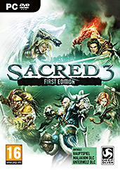 Sacred 3 uncut PEGI AT-Version Cover Packshot