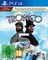 Tropico 5 uncut PEGI Cover Packshot