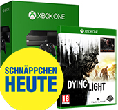 Xbox One 500 GB Bundle mit Dying Light uncut PEGI Cover Packshot
