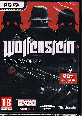Wolfenstein - The New Order uncut PEGI Cover Packshot