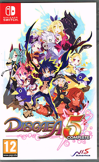Disgaea 5 Complete AT-PEGI Cover