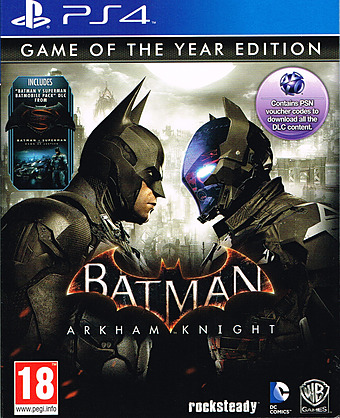 Batman: Arkham Knight GOTY uncut PEGI Cover Packshot