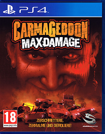 Carmageddon: Max Damage AT-PEGI Cover Packshot