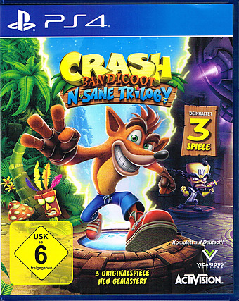 Crash Bandicoot N. Sane Trilogy Uncut Cover Packshot