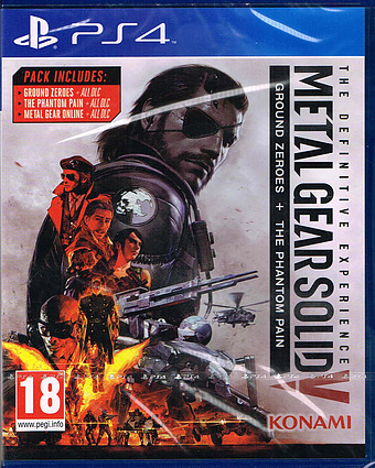 Metal Gear Solid 5: The Definitive Experience uncut Cover