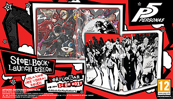 Persona 5 Limited Steelbook D1 Edition uncut Cover
