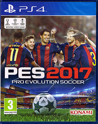 Pro Evolution Soccer 2017 Day 1 Edition AT-PEGI Cover