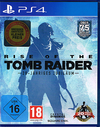 Rise of the Tomb Raider 20 Year Celebration uncut AT-PEGI Cover