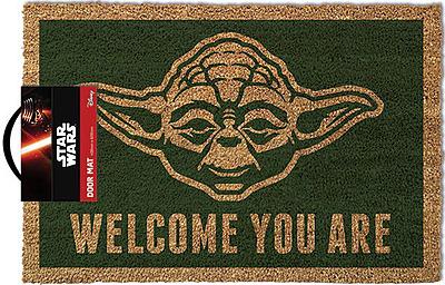 star wars fu matte yoda welcome you are. Black Bedroom Furniture Sets. Home Design Ideas