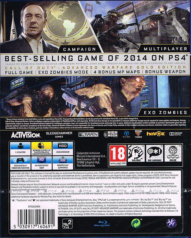 Call Of Duty: Advanced Warfare Uncut
