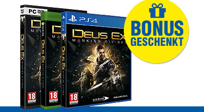 Deus Ex: Mankind Divided uncut AT-PEGI bei Gameware kaufen!