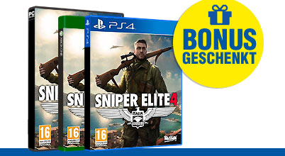 Sniper Elite 4 uncut AT-PEGI bei Gameware kaufen!