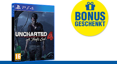Uncharted 4: A Thief's End uncut AT-PEGI bei Gameware kaufen!