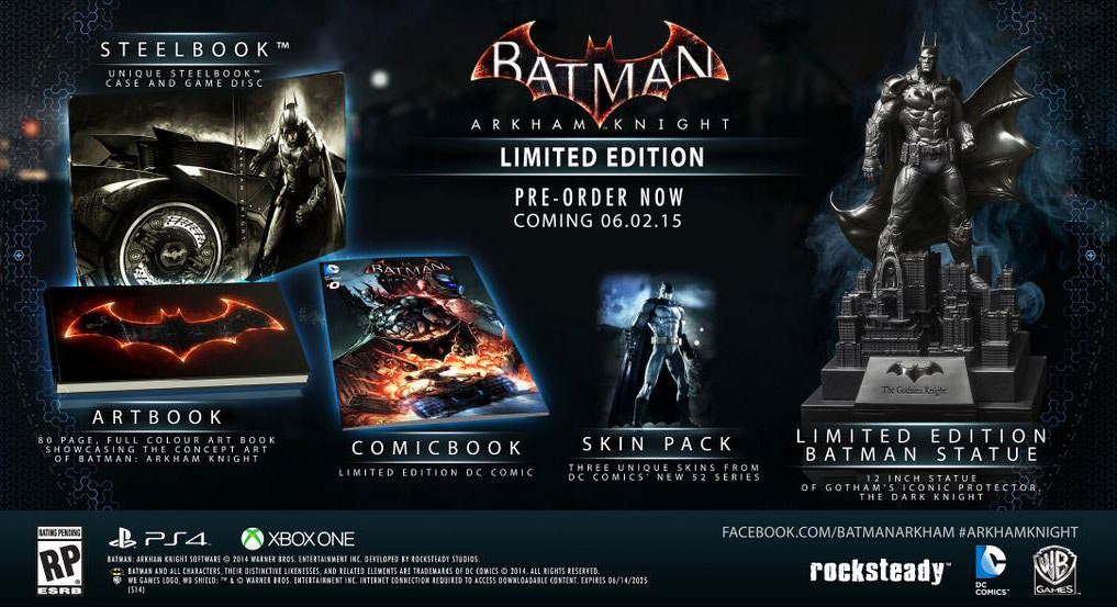 Batman: Arkham Knight Limited Edition Inhalte