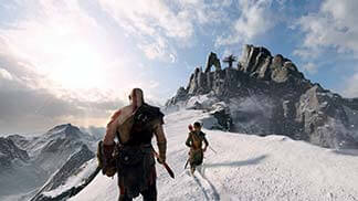 God of War (2018): Kratos & Artreus im Schnee Screenshots
