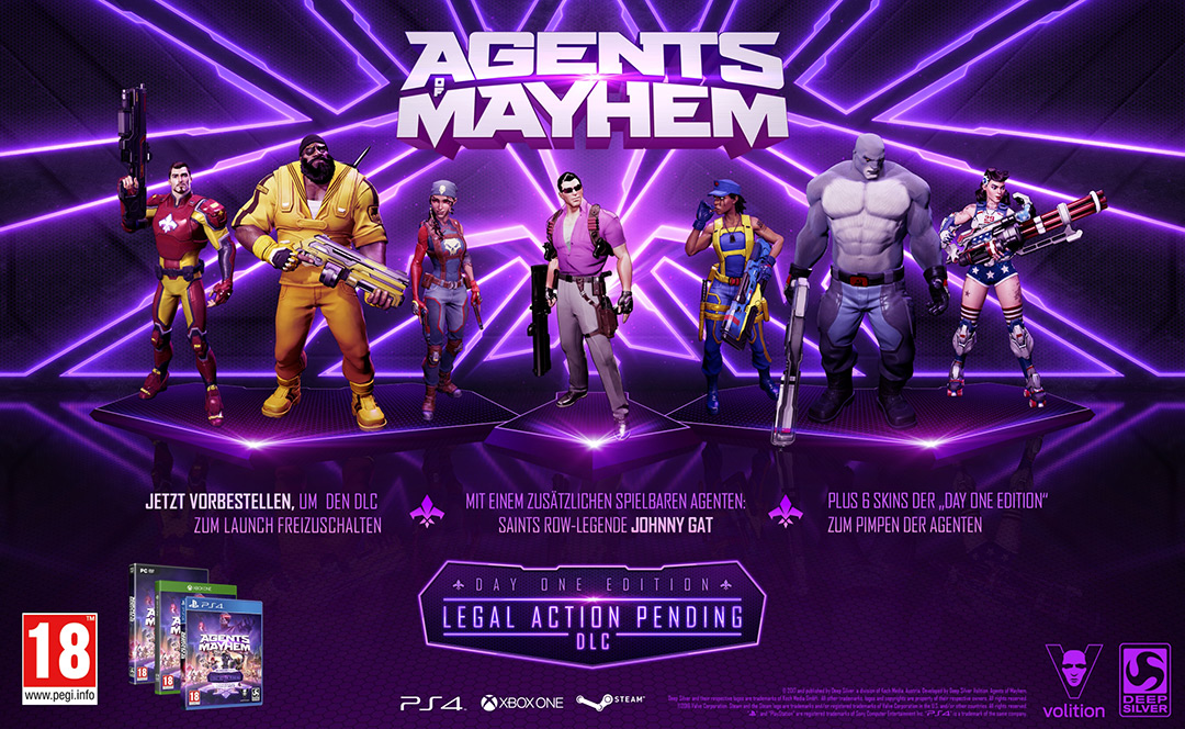 Vorbesteller-Aktion zu Agents of Mayhem