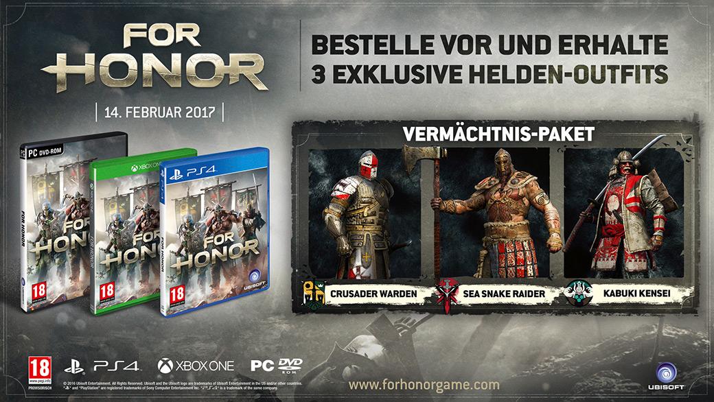 Vorbesteller-Aktion zu For Honor Uncut für PS4, Xbox One und PC