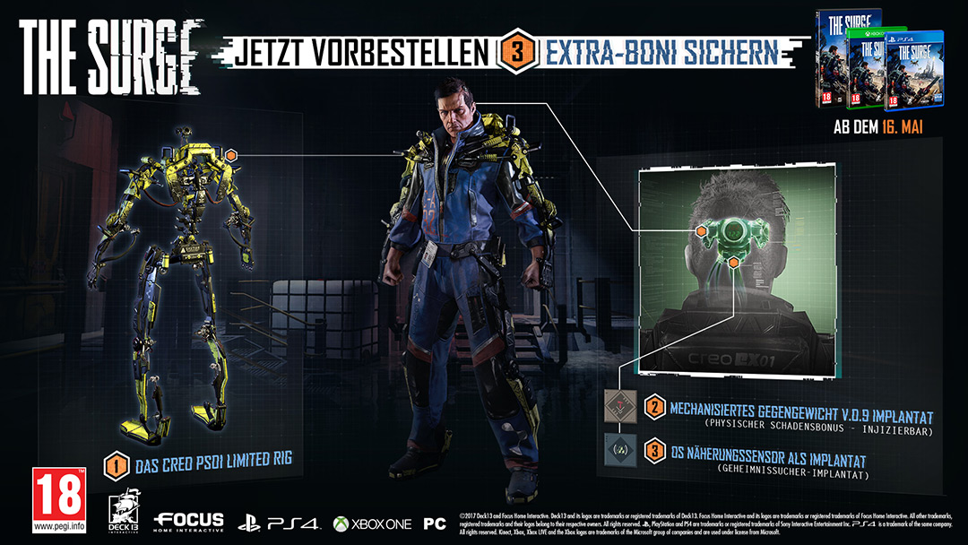 Vorbesteller-Aktion zu The Surge