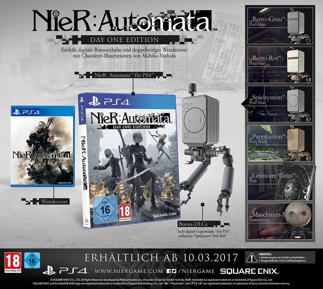 Vorbesteller-Aktion zu NieR Automata D1 Edition Uncut für PS4
