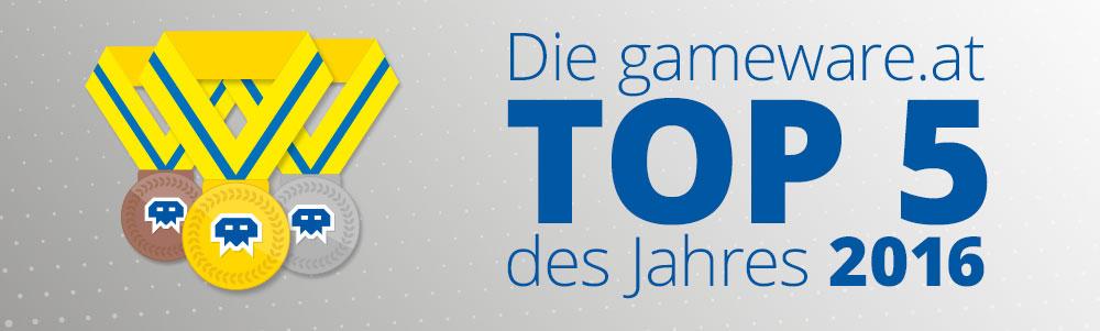 Die gameware.at Top 5 des Jahres 2016