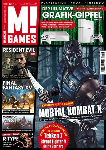 Die aktuellen Wertungen der M!Games Ausgabe Februar 2015