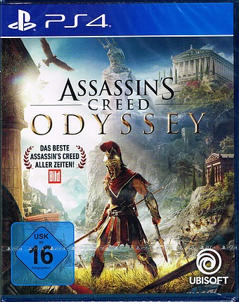 Assassins Creed Odyssey uncut AT-PEGI Cover Packshot