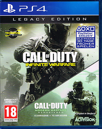 Call of Duty: Infinite Warfare + Modern Warfare AT-PEGI Cover