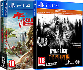 Dying Light Enhanced Edition & Dead Island Definitive Edition uncut AT-PEGI Cover