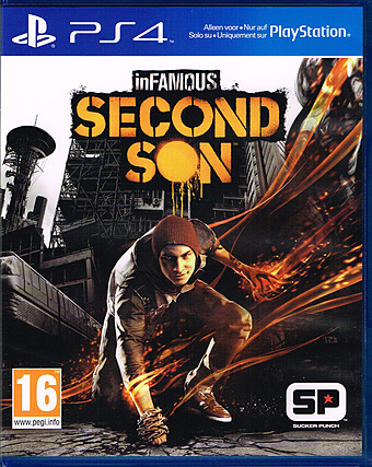 inFamous: Second Son uncut PEGI Cover Packshot PlayStation 4