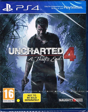 Uncharted 4: A Thief's End PEGI Cover