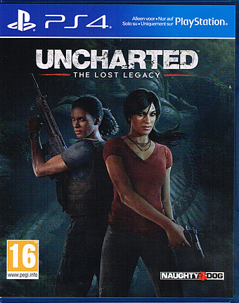 Uncharted: The Lost Legacy AT-PEGI Cover