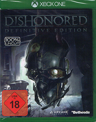 Dishonored Definitive Edition uncut PEGI Version Cover Packshot