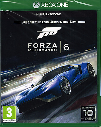 Forza Motorsport 6 AT-PEGI Cover Packshot