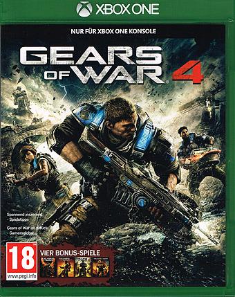 Gears of War 4 uncut AT-PEGI Cover Packshot