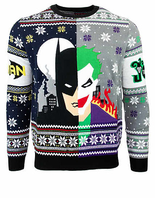 Einfach und sicher online bestellen: Batman vs Joker Christmas Jumper M in Österreich kaufen.