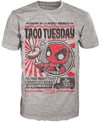 Einfach und sicher online bestellen: Deadpool Comics POP! T-Shirt Taco Tuesday L in Österreich kaufen.