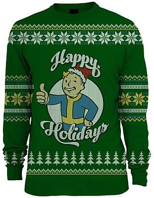 Einfach und sicher online bestellen: Fallout Xmas Pullover Green XL in Österreich kaufen.