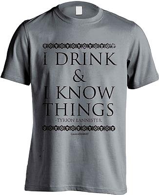 Einfach und sicher online bestellen: Game of Thrones T-Shirt I Drink & I Know Things XL in Österreich kaufen.