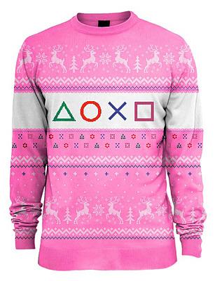 Einfach und sicher online bestellen: PlayStation Pullover Symbols Xmas Pink M in Österreich kaufen.