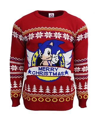 Einfach und sicher online bestellen: Sonic the Hedgehog Xmas Pullover XL in Österreich kaufen.