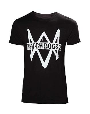 Einfach und sicher online bestellen: Watch Dogs 2 T-Shirt Logo Text L in Österreich kaufen.