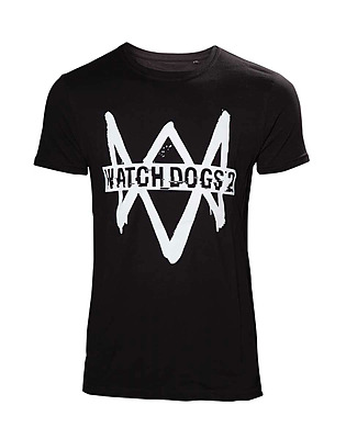 Einfach und sicher online bestellen: Watch Dogs 2 T-Shirt Logo Text M in Österreich kaufen.