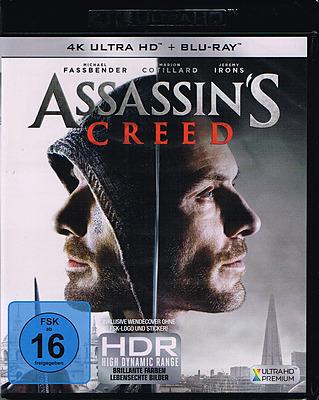 Einfach und sicher online bestellen: Assassin's Creed - Der Film 4K Ultra HD in Österreich kaufen.