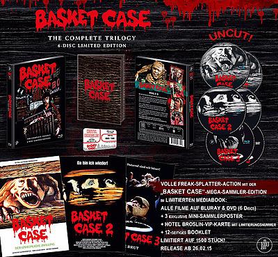 Einfach und sicher online bestellen: Basket Case 1-3 The Complete Trilogy Mediabook in Österreich kaufen.
