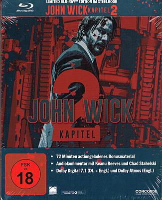 Einfach und sicher online bestellen: John Wick 2 - Limited Steelbook Edition in Österreich kaufen.