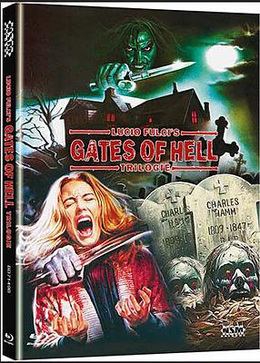 Einfach und sicher online bestellen: Lucio Fulcis Gates of Hell Trilogie Mediabook B in Österreich kaufen.