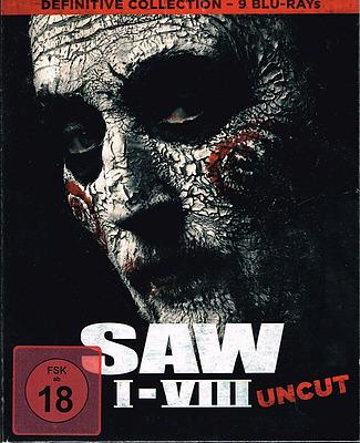 Einfach und sicher online bestellen: Saw 1-8 Definitive Collection (9 Blu-Ray Edition) in Österreich kaufen.