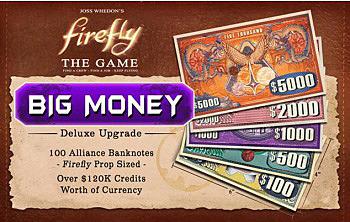 Einfach und sicher online bestellen: Firefly: The Game - Big Money Currency Upgrade in Österreich kaufen.